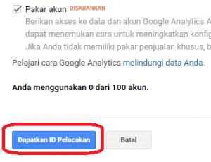 Cara mendaftar dan memasang Google Analytics pada website berbasis CMS wordpress - 3