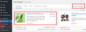 Jetpack Plugin melihat statistik pengunjung website simple - 1