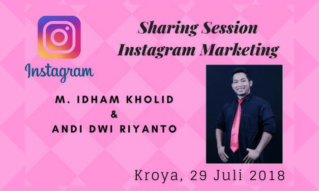Sharing Session Instagram sebagai Media Promosi