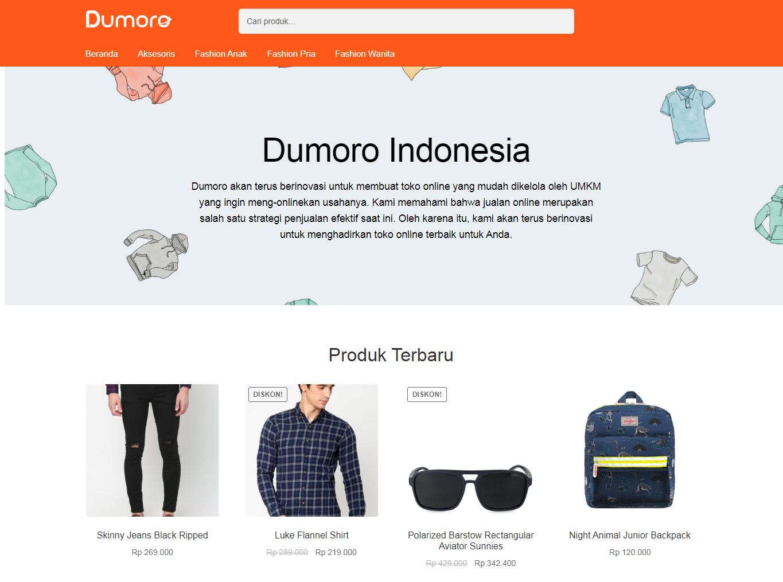 Dumoro: Platform Website E-commerce Sederhana, Mudah, Murah dan Lengkap