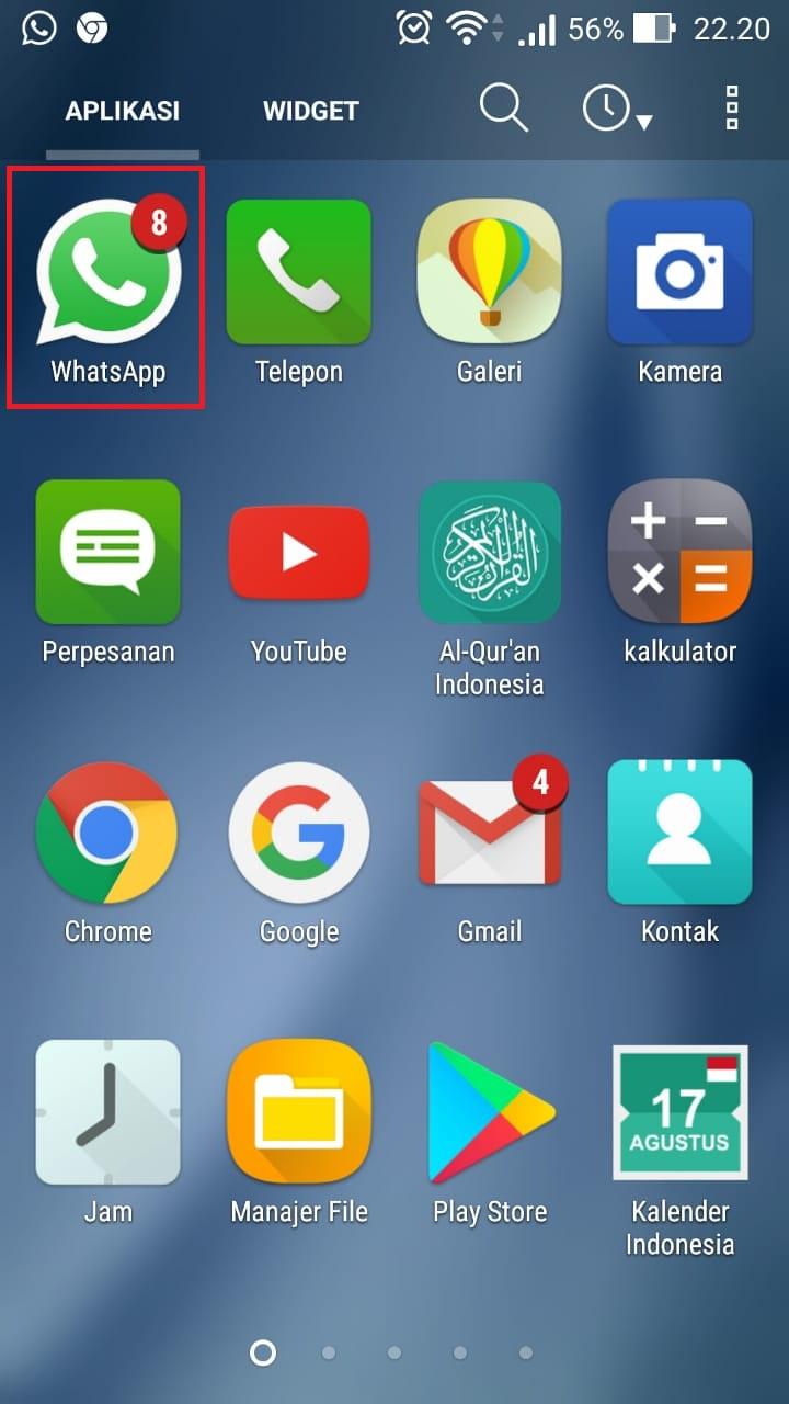 1. Buka aplikasi WhatsApp