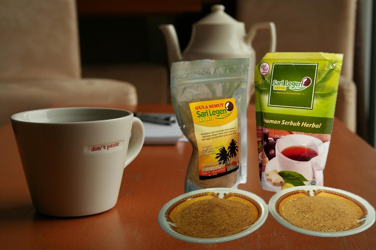 Minuman serbuk herbal gula semut sari legen jetis